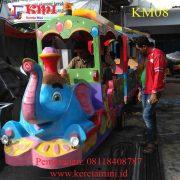 kereta gajah motor biru