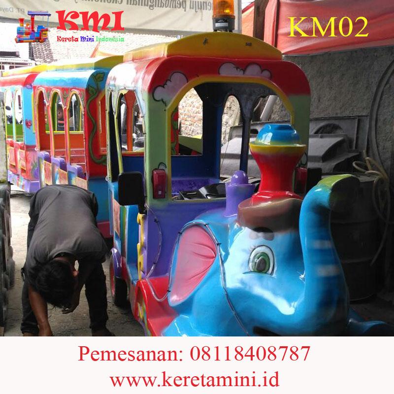 kereta gajah full fiberglass 21 anak