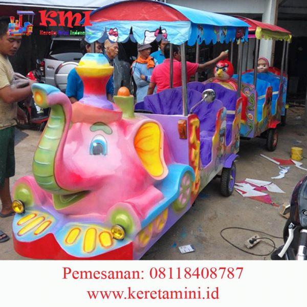 kereta gajah semi fiber