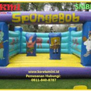 istana balon rumah balon bouncer kereta mini indonesia SPONGE BOB